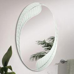 Palm Oval Wall Mirror (4001)