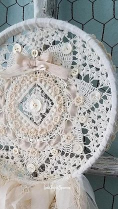 Dream Catcher Shabby Dream Catcher Doily Dreamcatcher
