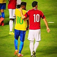 James and Neymar Jr. Sept 5, 2014 friendly match in FL USA Brasil 1- Colombia 0