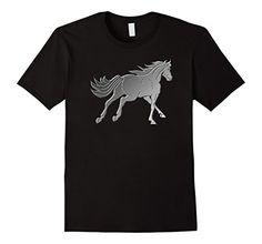 Mens Horse T shirt I love Horses western wear XL Black Ir...
