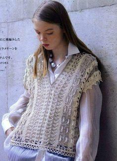 Crochet vest, free pattern