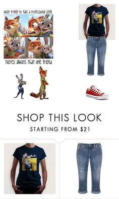"""""""Zootopia: I want to see it SO BAD!!"""" by karhoades-2 ❤ liked on Polyvore featuring Silver Jeans Co. and Converse"""
