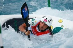 London Live: Day Three - Fox flirts with danger in her Olympic kayak - Australia's Jessica Fox competes in the women's kayak (K1) heats at Lee Valley White Water Centre during the London 2012 Olympic Games July 30, 2012.   SHE IS GOING TO BE A STAR