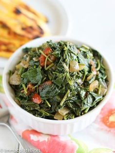Jamaican Style Callaloo Jamaican Style - I would make it without the bacon.Callaloo Jamaican Style - I would make it without the bacon. Jamaican Cuisine, Jamaican Dishes, Jamaican Recipes, Jamaican Spinach Recipe, Jamaican Callaloo Recipe, Jamaican Restaurant, Vegetable Dishes, Vegetable Recipes, Vegetarian Recipes