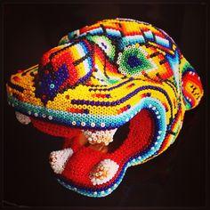 Jaguar, arte Huichol