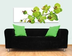 Leinwand-Wandtattoo Orchideenzweig