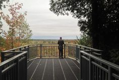 The viewing platform at Mono Cliffs Provincial Park affords views of the beautiful rolling Ontario forest and farmland spreading out to the east. Ontario Travel, Toronto Island, Toronto Star, City Maps, Great Places, The Good Place, Hiking, Platform, Maternity Photos