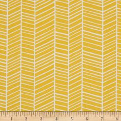 Joel Dewberry True Colors Herringbone Yellow from Designed by Joel Dewberry for Free Spirit Fabrics, this fabric features an abstract herringbone design and is perfect for quilting, apparel and home decor accents. Colors include yellow and white. Yellow Crib, Yellow Fabric, Diy Quilting Projects, Herringbone Fabric, Baby Changing Pad, Boppy Cover, Free Spirit Fabrics, Crib Sheets, Crib Mattress