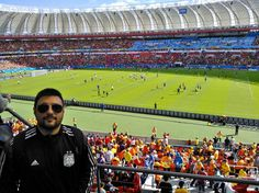 En el estadio Beira Río, en la previa de #Holanda - #Australia.