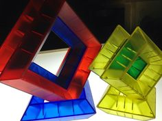 making 3d shapes with wedgits on the light table