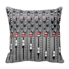 Audio Mixer Sound Board Pillow for the music lovers.