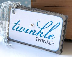 Christmas Tags . TWINKLE twinkle Double Layer Rectangle Scallop Holiday Tags or Package Labels (Qty. 5). $4.00, via Etsy.