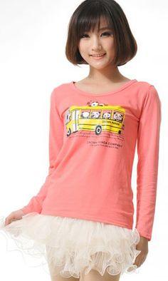 Korean long-sleeved T-shirt M006