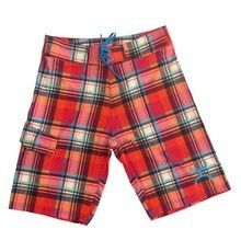 Hooey® Men's Red Plaid Board Shorts