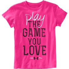 Under Armour Kids Play the Game Tee www. Sporty Girls, Sporty Outfits, Tween Girls, Cute Outfits, Sporty Clothes, Athletic Clothes, Under Armour Outfits, Under Armour Shirts, Softball