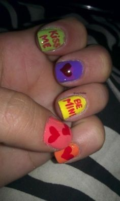 Valentines day nails =D @AmyDubbz