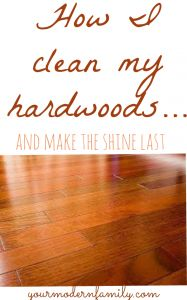 best way to clean dark hardwood floors