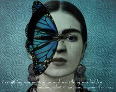 Frida Kahlo Azure Butterfly | ARTDECADENCE