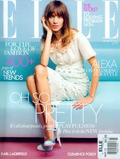 ELLE UK March 2012. Alexa Chung