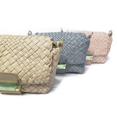 Ghibli small hand-woven leather messenger! New colours for summer 2018! #beige #lightgrey #grey #pink #rose #fashion #woven #bag #messenger #small #love #luxury #summer #spring #2018