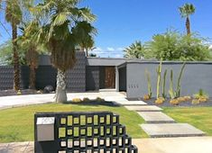 palm springs mid century modern - cool mailbox