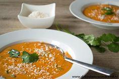 De keuken van Martine: Soep van zoete aardappel en tomaat