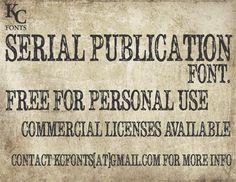 Serial Publication font by KC Fonts - FontSpace