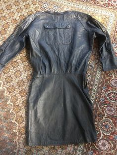 Vintage Leather One Off Hand Made Quirky Dress | eBay