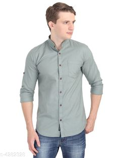 Checkout this latest Shirts Product Name: *Urbane Men Shirt* Fabric: Cotton Sleeve Length: Long Sleeves Pattern: Solid Multipack: 1 Sizes: S (Chest Size: 28 in, Length Size: 26 in)  M, L, XL, XXL, XXXL Easy Returns Available In Case Of Any Issue   Catalog Rating: ★4.1 (7694)  Catalog Name: Urbane Men Shirts CatalogID_613500 C70-SC1206 Code: 273-4282328-8211