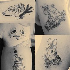 here's a few of the tattoos I made this year. thanks to everybody who lent me their bodies.