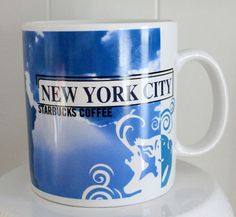 $25.00 Starbucks 20 oz New York Coffee Tea Mug Cup Statue of Liberty City Series 1999 | eBay