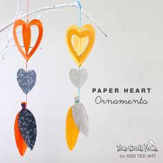 Easy Paper Crafts - a gorgeous heart mobile - super cute decoration for Valentine's Day or for a child's bedroom