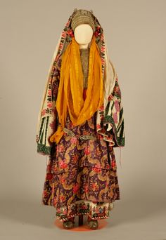 """Chryssomandilo"", bridal and festive costume from Astypalaia (Dodecanese, Greece), belonging to the Palatianou family, c. 1870"