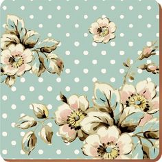 Set of 6 Katie Alice -Cottage Flower Shabby Chic Coasters