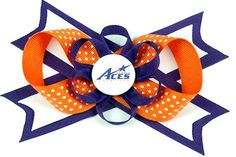Purple Aces hair bow