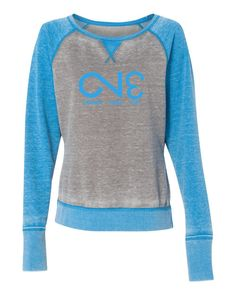 8927 Women's Zen Fleece Raglan Sleeve Crewneck Sweatshirt