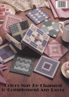 Coasters Plastic Canvas Pattern Teach Yourself by PaperButtercup, $5.95