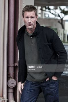 Actor Aaron Eckhart poses at a portrait session for Life in Los Angeles, California on December 15, 2010.