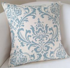 Decorative Pillow Cover 18 x 18 Inch Cottage Blue by nestables, $20.00