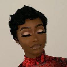 Makeup For Black Skin, Black Girl Makeup, Girls Makeup, Makeup Black Women, Dope Makeup, Glam Makeup Look, Glamour Makeup, Hair Makeup, Glitter Makeup Looks