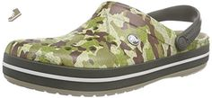 Crocs Crocband Camouflage Clog - Dusty Olive women´s size US M 6 - Crocs mules and clogs for women (*Amazon Partner-Link)
