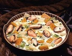 Seafood chowder (Canadian style )