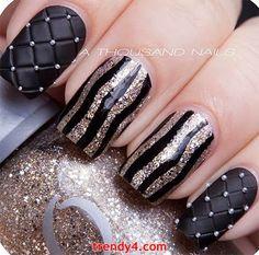 DIY Black Nail Design 2014 Inspiring Black Nails 2014