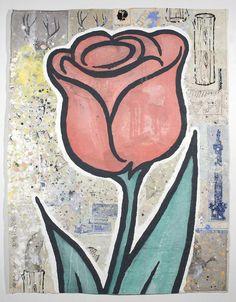 Donald Baechler, RED FLOWER (2008)