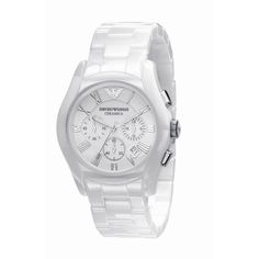 Emporio Armani AR1403 Men's Ceramica White Dial Bracelet Watch