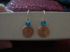 Spiral Head Pins and Simple Spiral Earrings