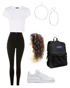 """""""Untitled #49"""" by llupita on Polyvore featuring Topshop, NIKE, Gorjana and JanSport"""