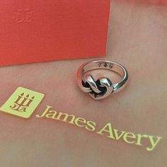 We love how this customer personalized our Heart Knot Ring with initials and a symbol. #JamesAvery