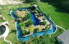 Back Yard Lazy River Pool Designs - Bing images Natural Swimming Pools, Swimming Pools Backyard, Swimming Pool Designs, Backyard Landscaping, Natural Pools, Pool Decks, Lap Pools, Indoor Pools, Landscaping Design