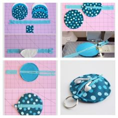Fun iPod case :) Cute Sewing Projects, Diy House Projects, Sewing Projects For Beginners, Sewing Hacks, Sewing Crafts, Diy Tea Bags, Sewing Pockets, Patchwork Bags, Bag Patterns To Sew